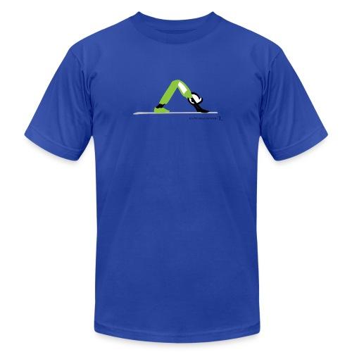 Happy New Moment, Yoga (down dog) - Men's Fine Jersey T-Shirt
