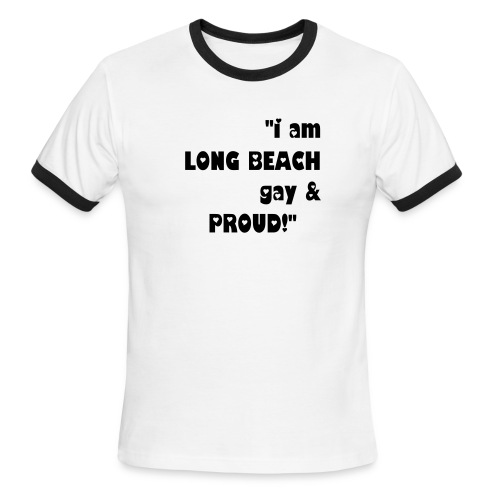 Long Beach Gay - Men's Ringer T-Shirt
