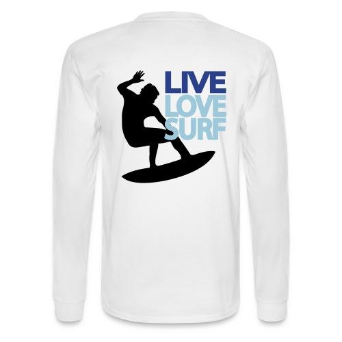 Live Love Surf Long Sleeve for Men - Men's Long Sleeve T-Shirt