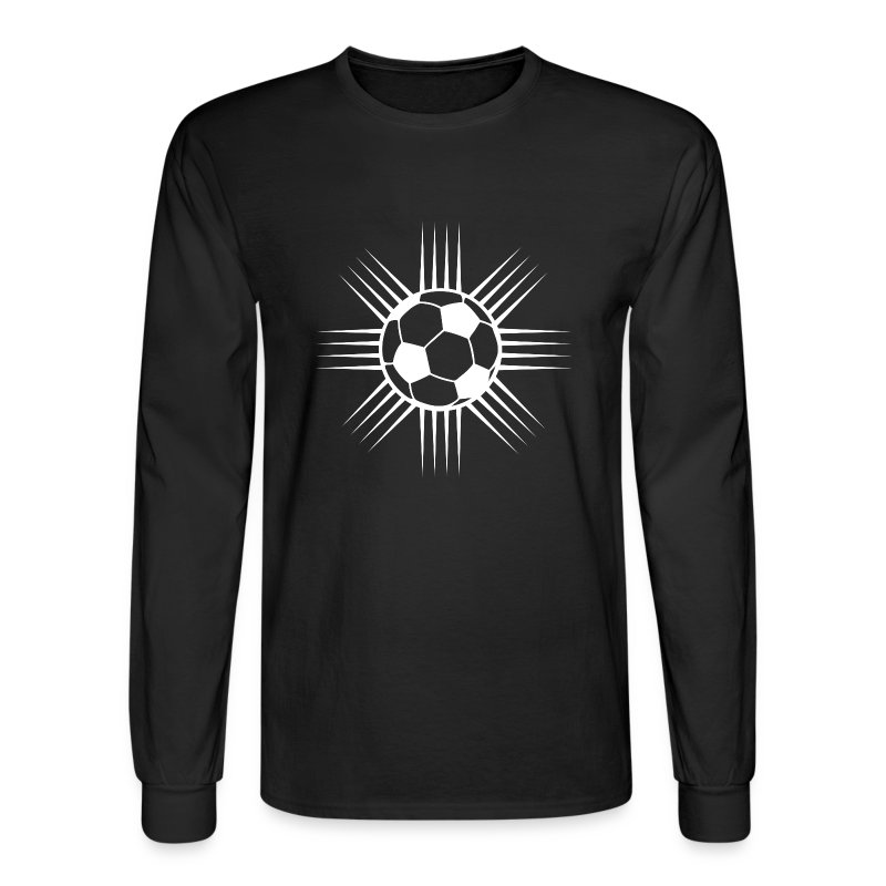 black cool soccer ball designer logo long sleeve shirts mens long sleeve t shirt - Soccer T Shirt Design Ideas