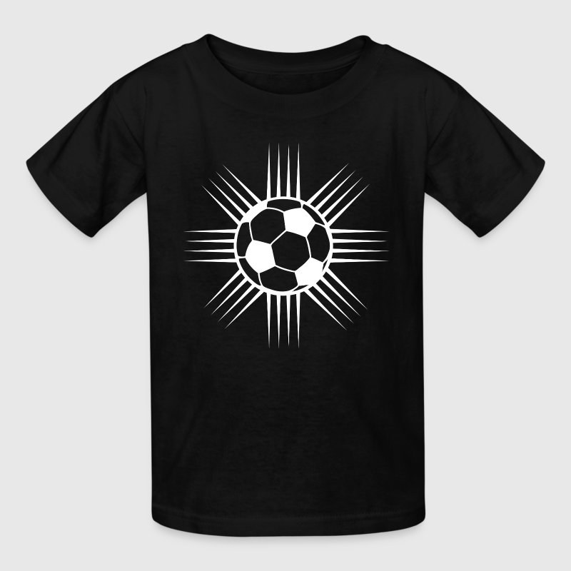 black cool soccer ball designer logo kids shirts kids t shirt - Soccer T Shirt Design Ideas