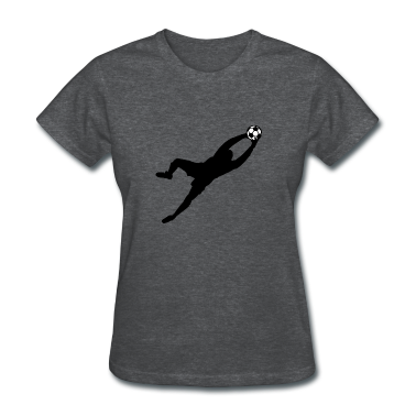 Deep heather Cool Soccer Goalie Dive Save Graphic Women's T-shirts