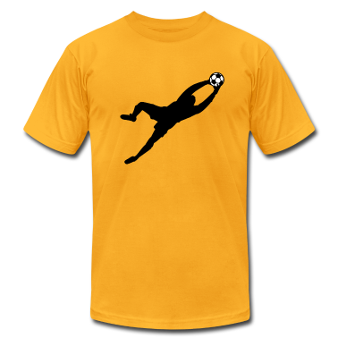 Gold Cool Soccer Goalie Dive Save Graphic T-Shirts