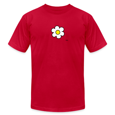 Red daisy flower (white/yellow) T-Shirts