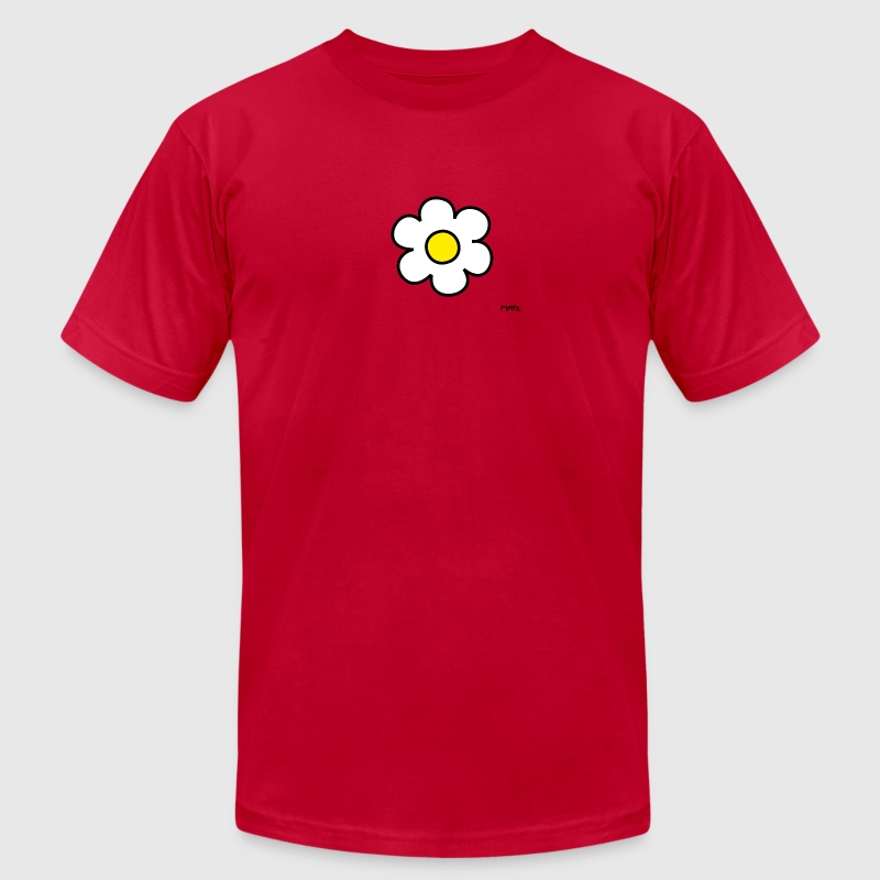 Red daisy flower (white/yellow) T-Shirts - Men's T-Shirt by American Apparel