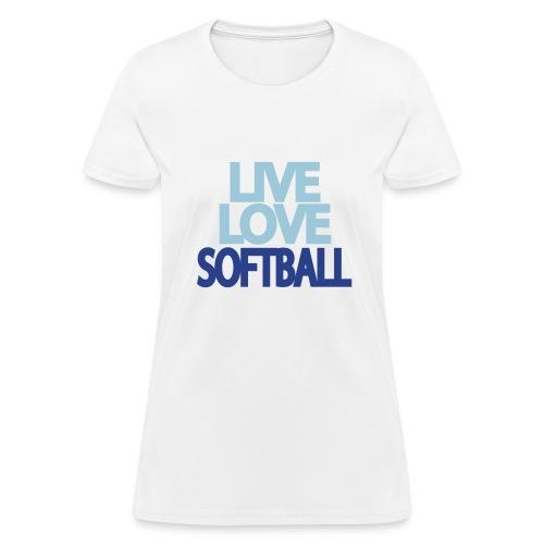 Women's Softball T-Shirt - Women's T-Shirt