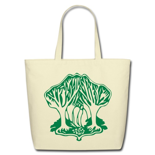 Earth Day Tree of Life on Yoga Eco Tote Bag - Eco-Friendly Cotton Tote