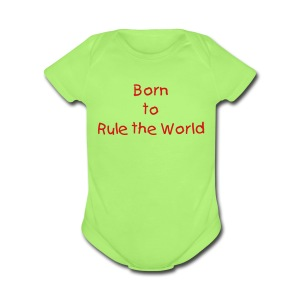 Born to Rule - Short Sleeve Baby Bodysuit