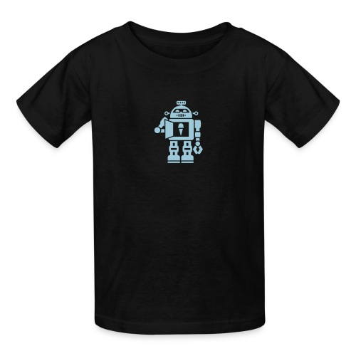 Ice Cream Robot [Blue on Blk] - Kids' T-Shirt