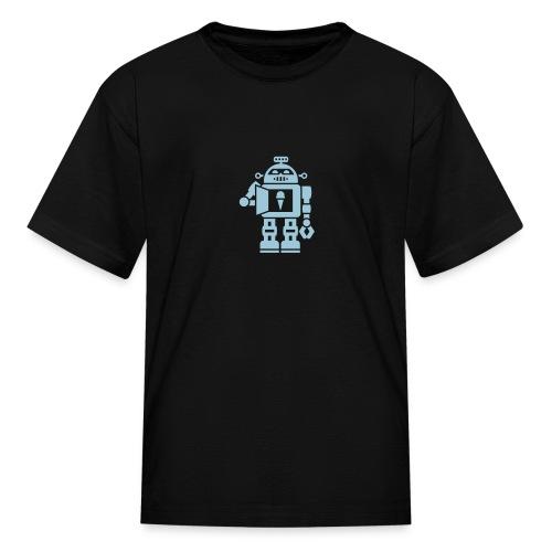 Ice Cream Robot [Blue on Blk] - Kids' T-Shirt