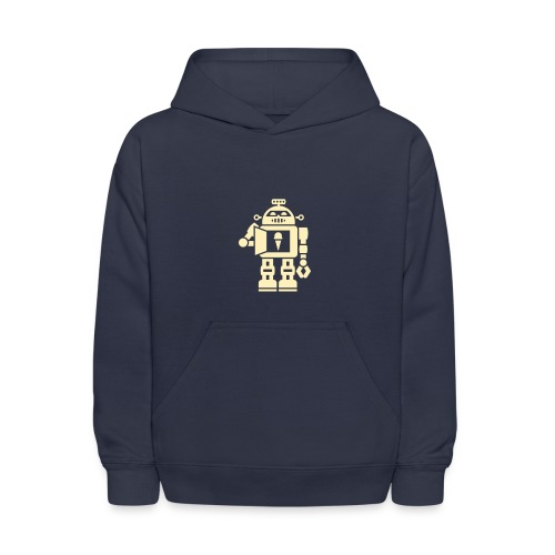 Ice Cream Robot [Cream on Navy] - Kids' Hoodie