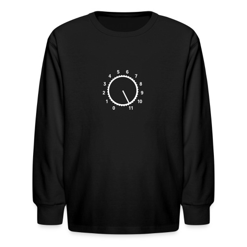 High Volume [Wht on Blk] - Kids' Long Sleeve T-Shirt