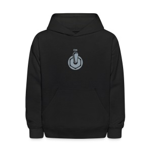 On Switch [Silver on Blk] - Kids' Hoodie