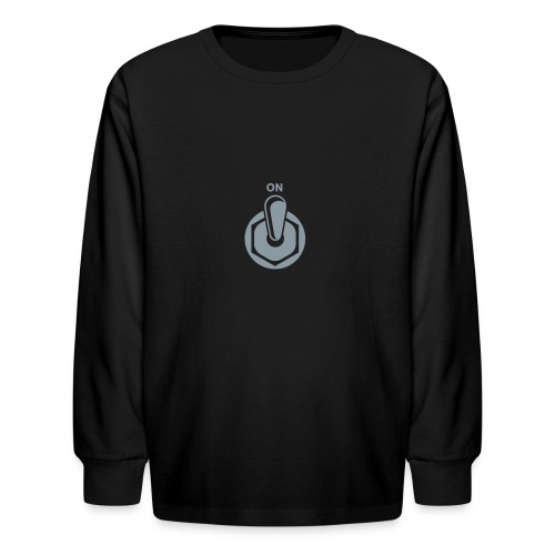 On Switch [Silver on Blk] - Kids' Long Sleeve T-Shirt