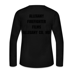 Allegany Firefighter Films Womens Long Sleeve jersey Tee - Women's Long Sleeve Jersey T-Shirt