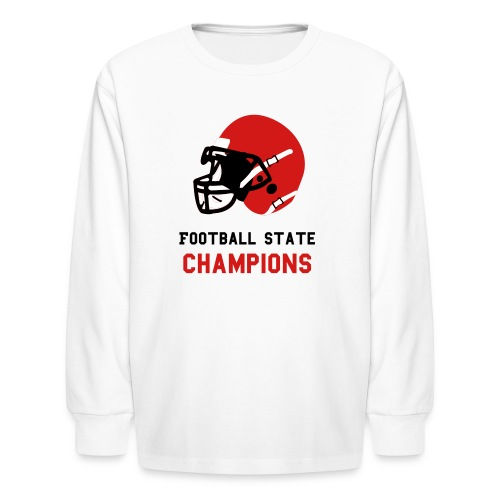 Custom Football Helmet - Kids' Long Sleeve T-Shirt