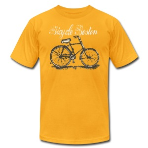 Bicycle Boston Men's American Apparel Tee - Men's T-Shirt by American Apparel