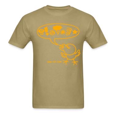 Khaki Rude Chicken T-Shirts