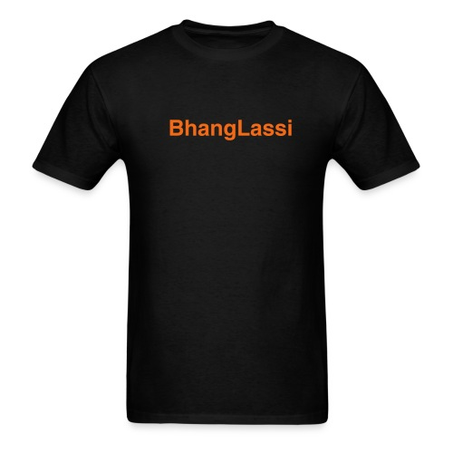 Black / Orange Lassi Logo Tee - Men's T-Shirt