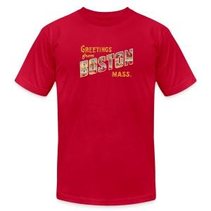 Greetings From Boston Vintage Apparel shirt - Men's Fine Jersey T-Shirt