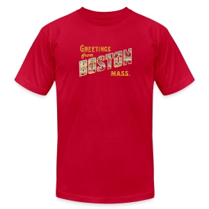Greetings From Boston Vintage Apparel shirt - Men's T-Shirt by American Apparel
