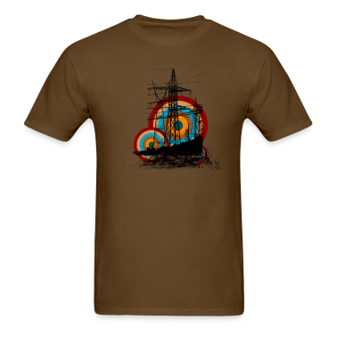 Brown Electric Color T-Shirts
