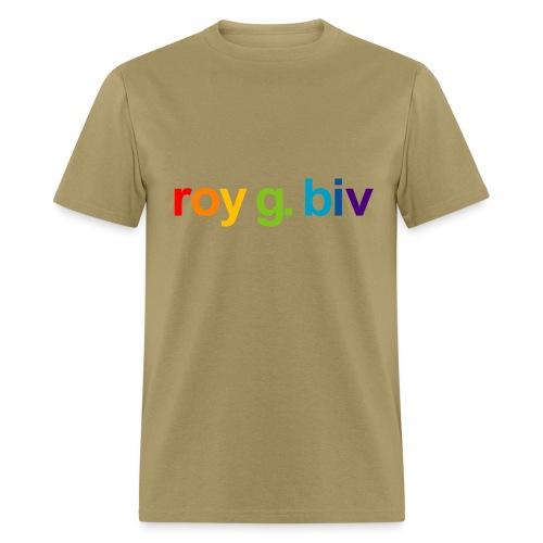 roy g. biv lowercase - Men's T-Shirt
