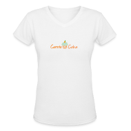 Women's T-Shirts ~ Women's V-Neck T-Shirt ~ Carrots 'N' Cake V-Neck T-Shirt