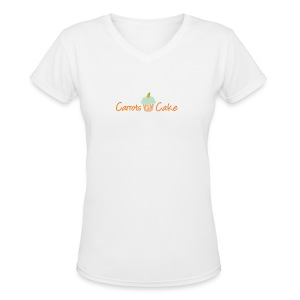 Carrots 'N' Cake V-Neck T-Shirt - Women's V-Neck T-Shirt
