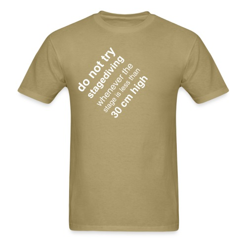 stagediving_boys_khaki - Men's T-Shirt
