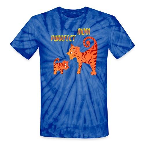 PurrFect Mom - Unisex Tie Dye T-Shirt
