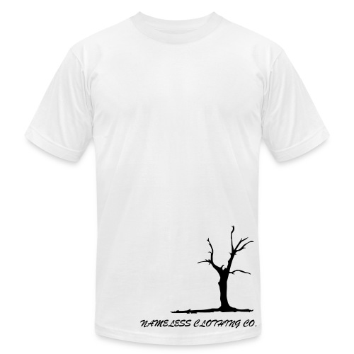 tree white - Men's  Jersey T-Shirt