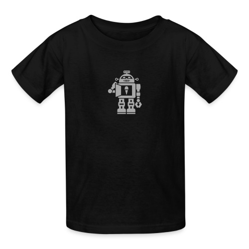 Ice Cream Robot [Sparkle Silver on Blk] - Kids' T-Shirt