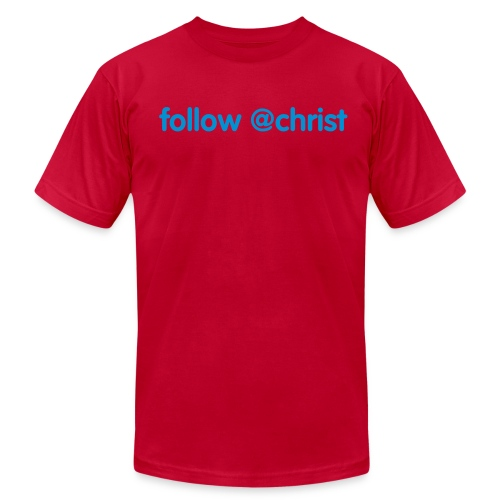 follow @christ - American Apparel - Men's Fine Jersey T-Shirt