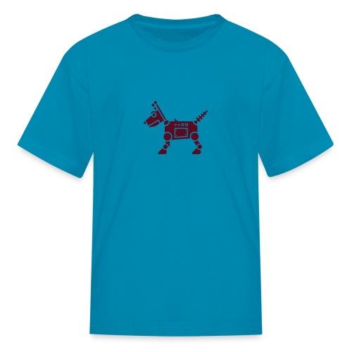 RoverBot [Dk Red on Orange] - Kids' T-Shirt