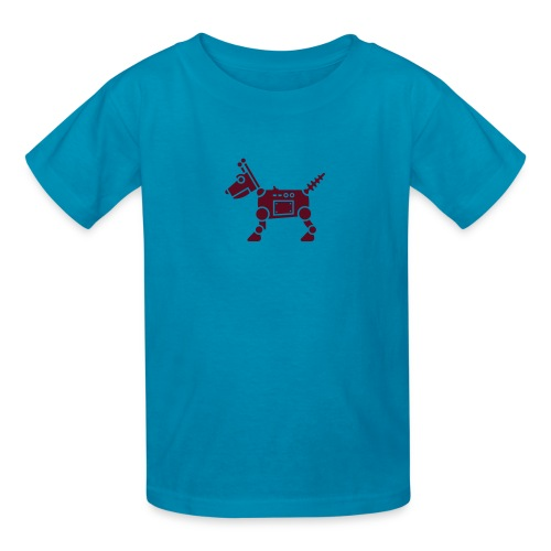 RoverBot [Dk Red on Orange] - Kids' T-Shirt