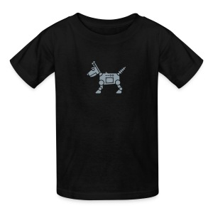 RoverBot [Silver on Blk] - Kids' T-Shirt