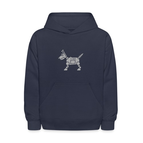 RoverBot [Silver Sparkle on Navy] - Kids' Hoodie