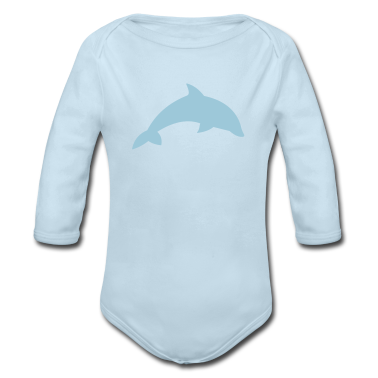 Powder blue kids_dolphin Baby Body