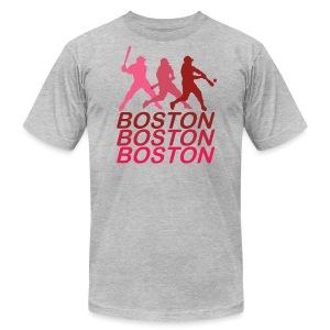 Boston Three Men's American Apparel Tee - Men's Fine Jersey T-Shirt