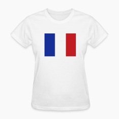 White French Flag Women's T-Shirts