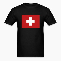 Black Swiss Flag T-Shirts