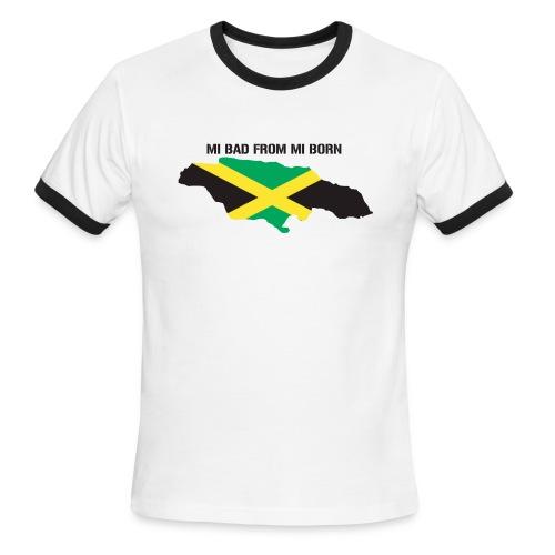 bad from mi born men's tee - Men's Ringer T-Shirt