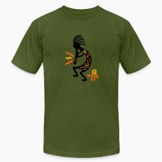 Olive kokopelli_carving_american T-Shirts