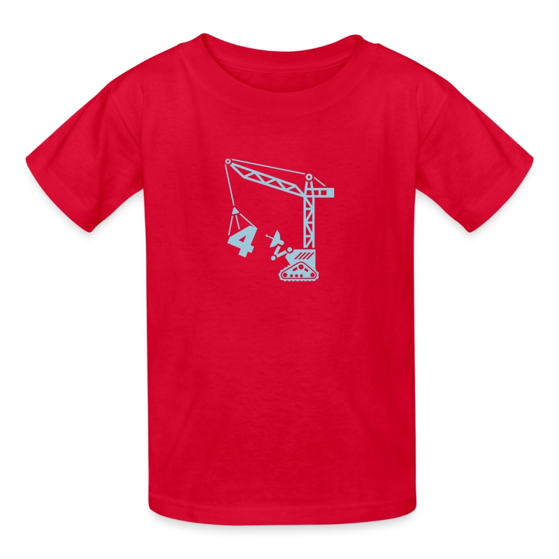 Big 4 [Lt Blu on Red] - Kids' T-Shirt