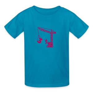 Big 3 [Magenta on Pink] - Kids' T-Shirt