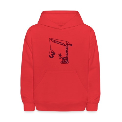 Big 3 [Maroon on Red] - Kids' Hoodie