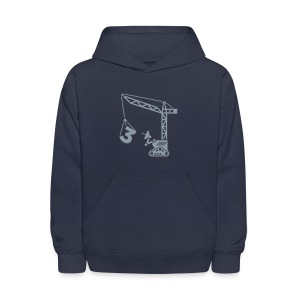Big 3 [Silver on Navy] - Kids' Hoodie