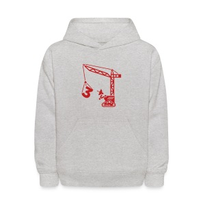 Big 3 [Fuzzy Red on Grey] - Kids' Hoodie