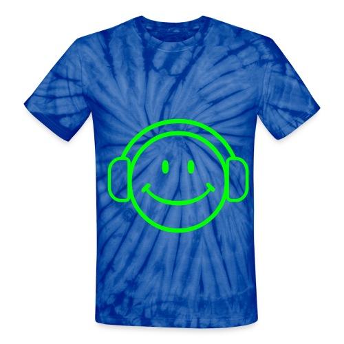 Music Happy Face Tie Dye Tee - Unisex Tie Dye T-Shirt